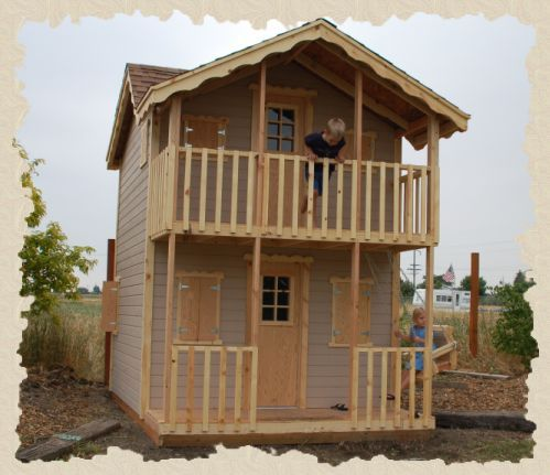 Country Gal Kits Playhouse Plans Porch And Balcony Play Houses Playhouse Plans
