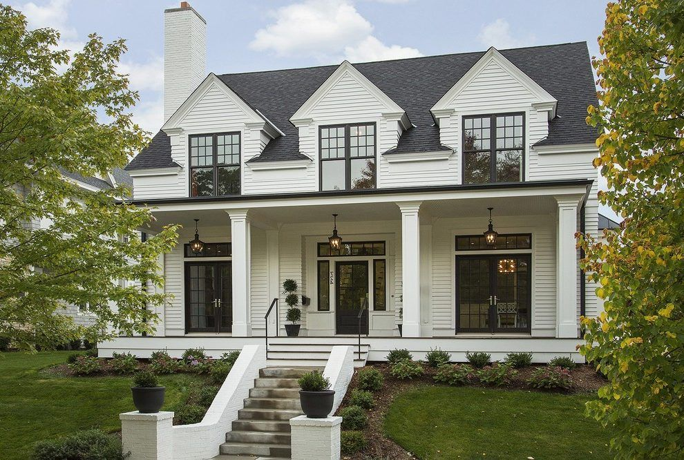 Minneapolis Vinyl Siding Styles Exterior Transitional With Traditional Front Porch Awnings An House Exterior Modern Farmhouse Exterior Cape Cod House Exterior