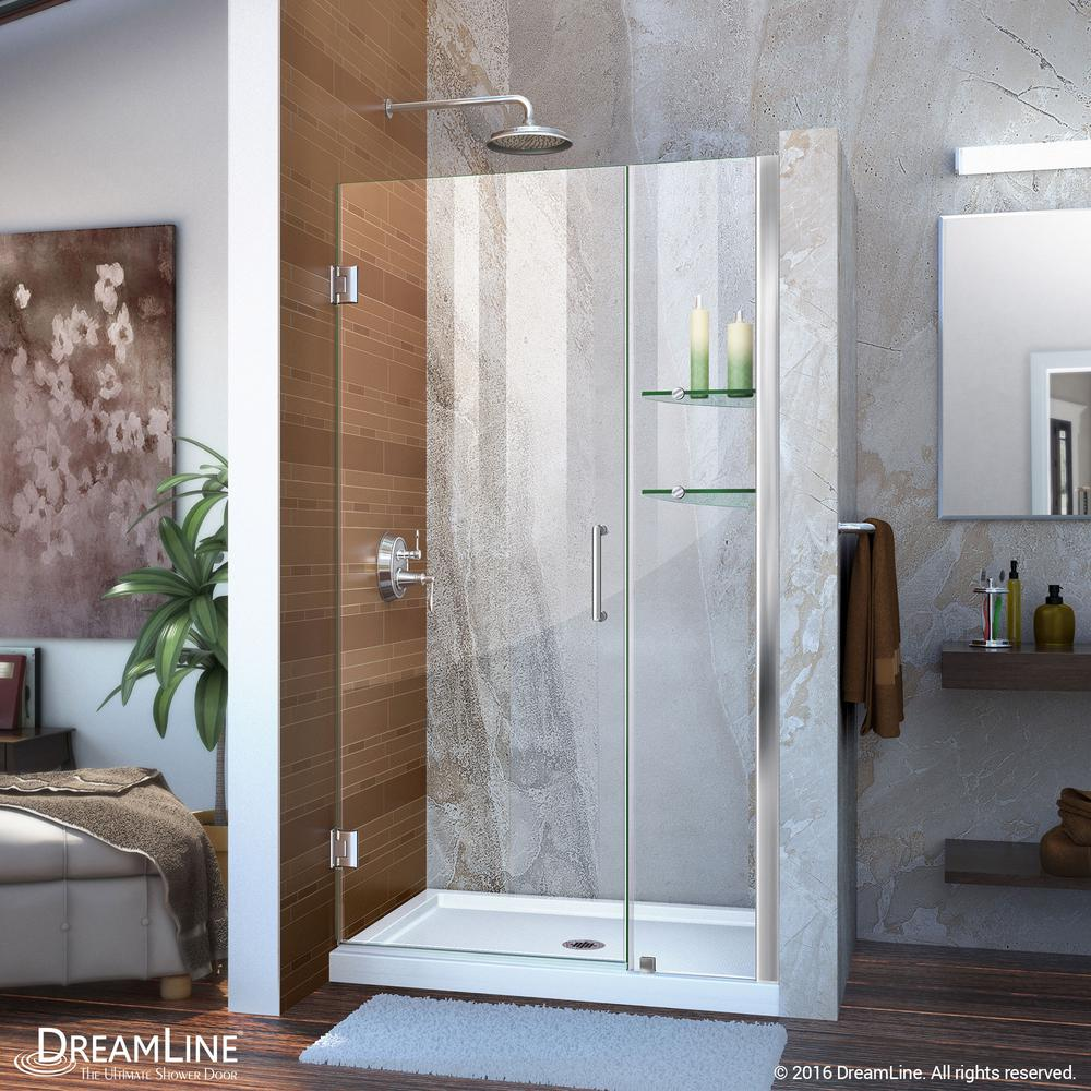 Dreamline Unidoor 39 To 40 In X 72 In Frameless Hinged Shower Door In Chrome Shdr 20397210s 01 In 2019 Shower Doors Frameless Shower Doors Tub Shower Doors