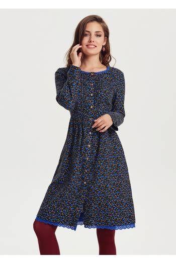 Pazen Elbise E82mavicicekli Elbise Elbise Modelleri Cicekli Etekler