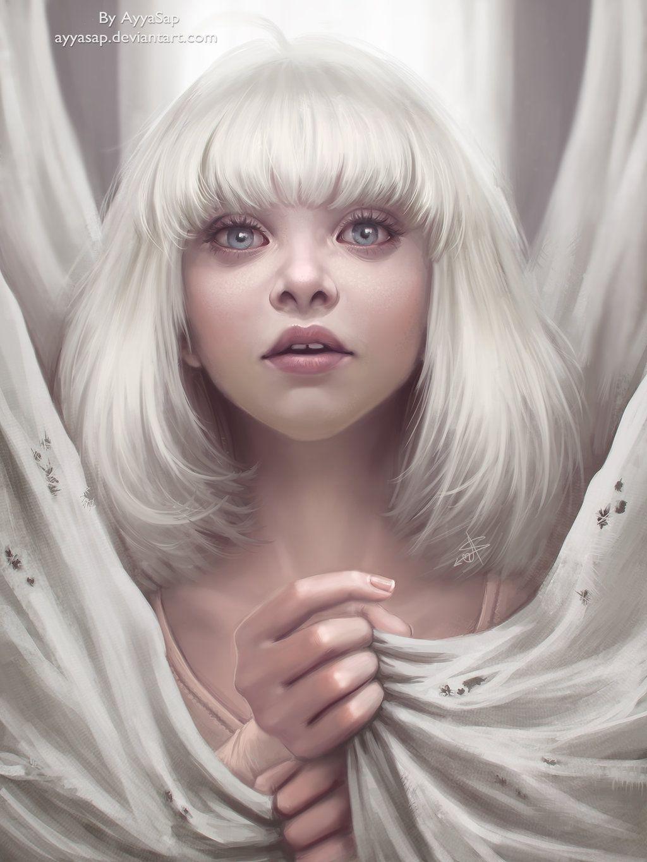 Maddie Ziegler - Redraw (Sia - Chandelier) by AyyaSap deviantart com