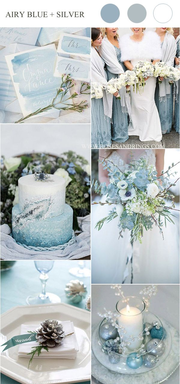 Top 10 Winter Wedding Color Palettes for 2019 & 2020 -   16 wedding Blue winter ideas