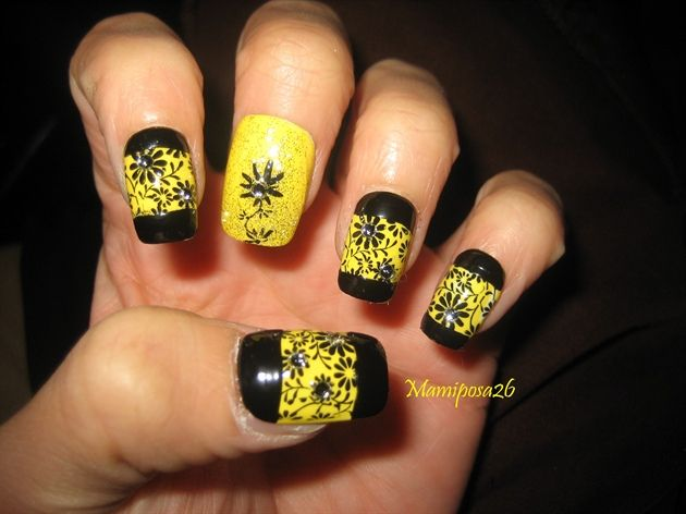 Yellow Nail Art Nails Pinterest Yellow Nails Yellow Nail Art