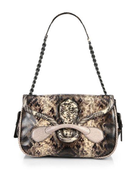 Bottega Veneta - Karung   Ayers Snakeskin Medium Shoulder Bag  38c9657a75695