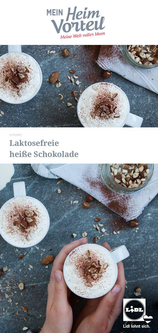 Laktosefreie heiße Schokolade schmeckt mit Nusstopping besonders ...
