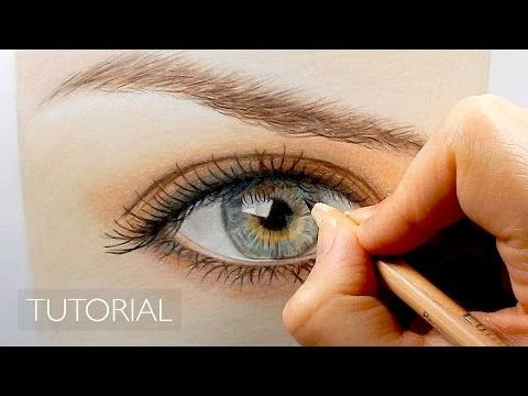 Tutorial How To Draw A Realistic Eye With Colored Pencils Emmy Kalia Color Pencil Drawing Realistic Eye Realistic Drawings
