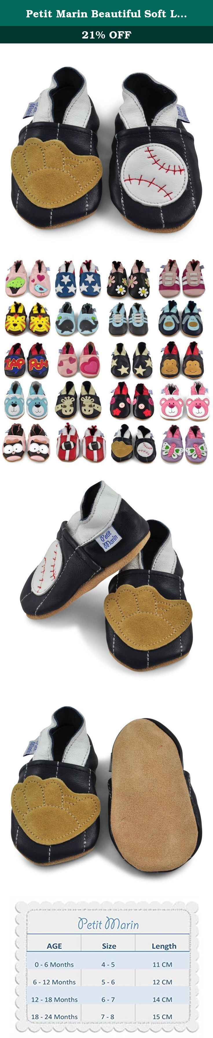 86883435cc76b Petit Marin Beautiful Soft Leather Baby Shoes with Suede Soles - Toddler   Infant  Shoes -