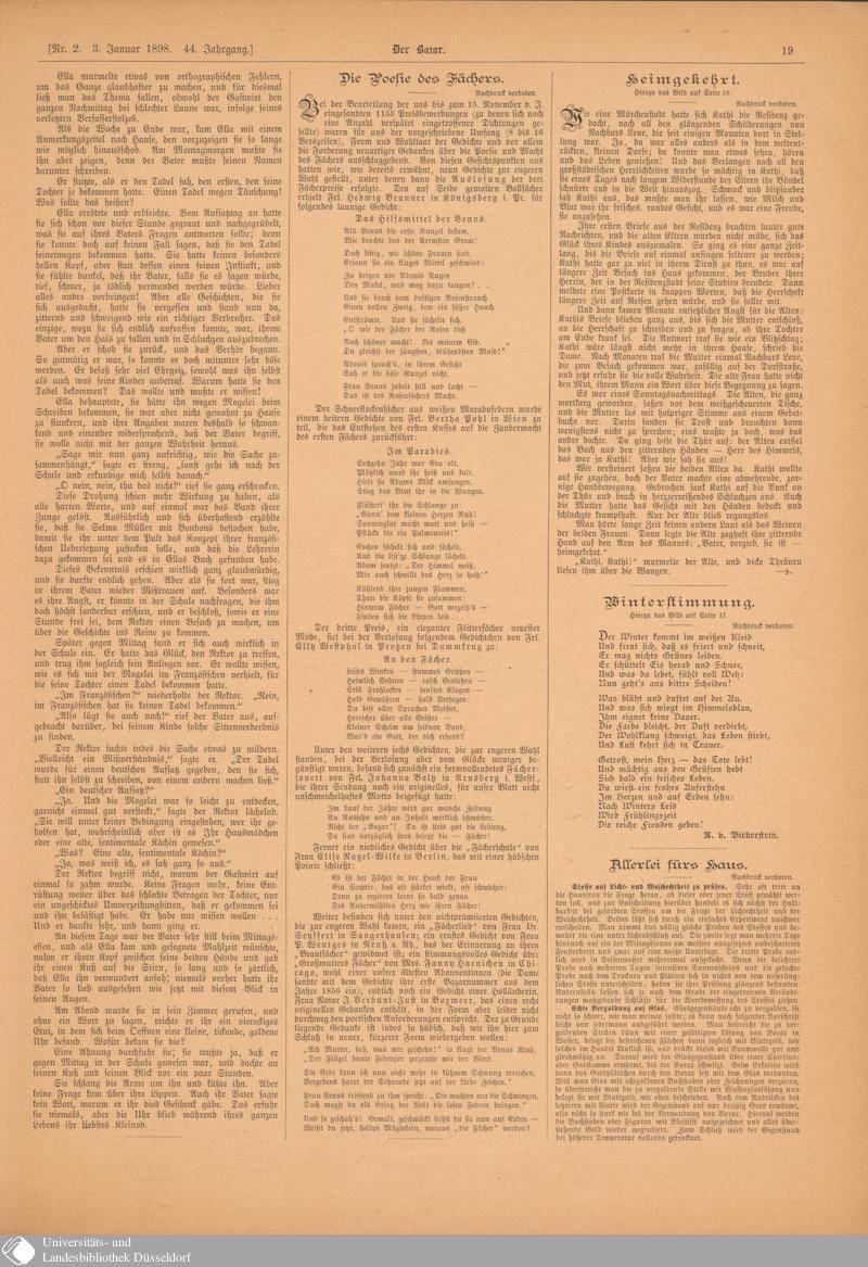 24 [19] - Nr. 2. - Der Bazar - Seite - Digitale Sammlungen - Digitale Sammlungen
