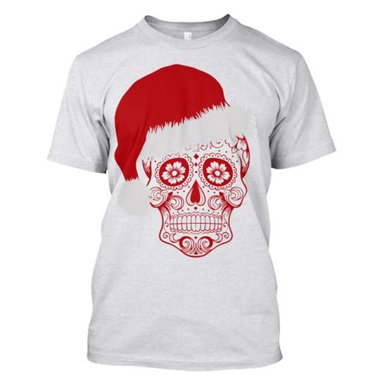 Sugar Skull Xmas T Shirts, Hoodies. Check price ==► https://www.sunfrog.com/Holidays/Sugar-Skull-Xmas-69892520-Guys.html?41382