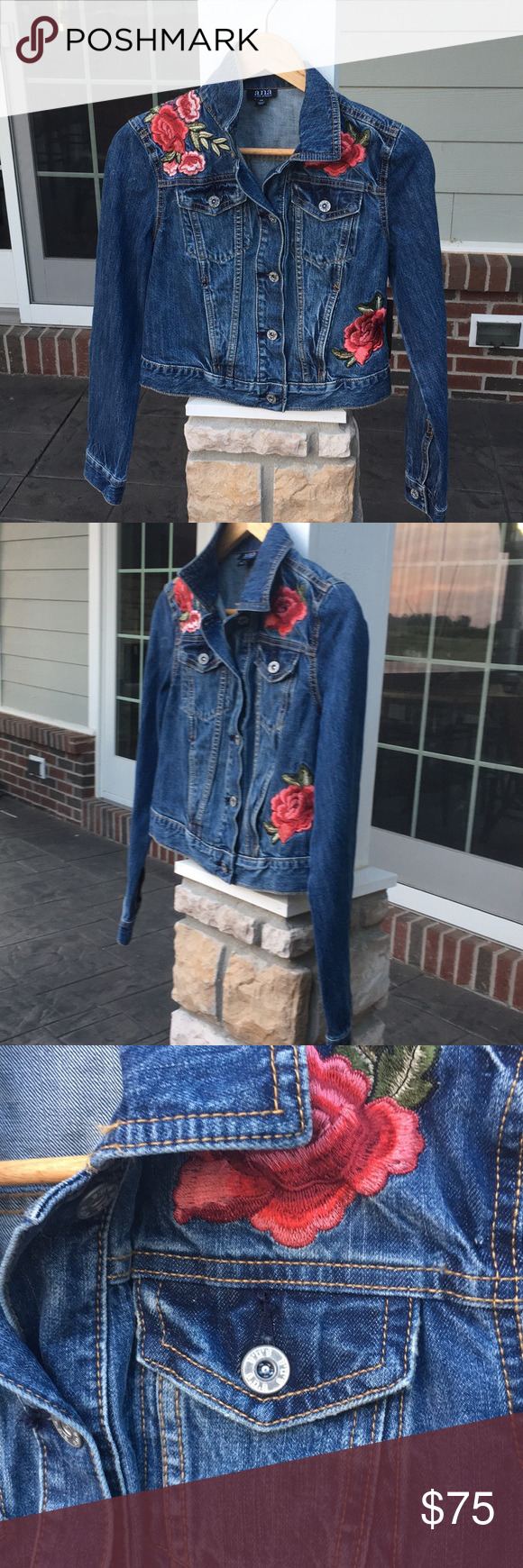 Rose Embroiled Jean Jacket Jackets Jean Jacket Clothes [ 1740 x 580 Pixel ]