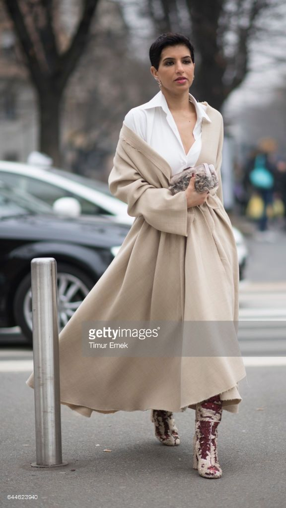 Deena Aljuhani Abdulaziz seen during Milan Fashion Week Fall/Winter 2017/18 on February 23, 2017 in Milan, Italy.