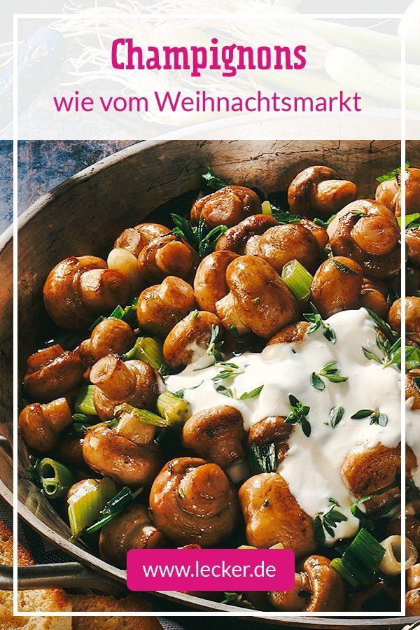 Gebratene Champignons mit Knoblauch-Thymian-Dip Rezept | LECKER