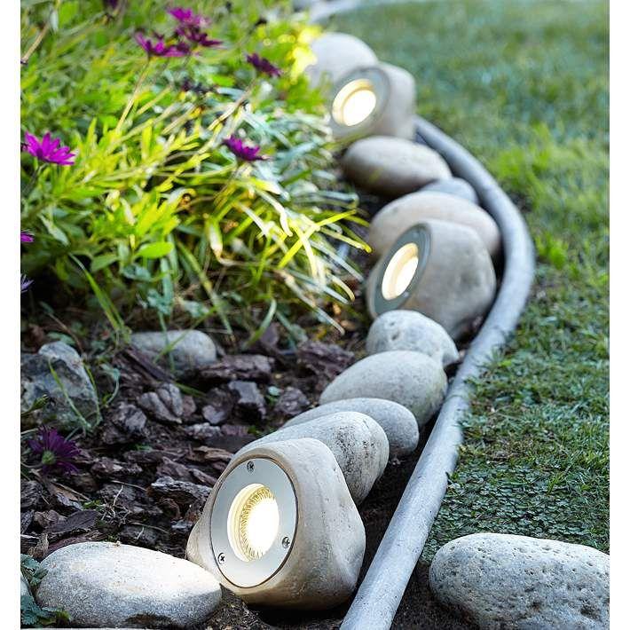 Five light rock led landscape kit 2r771 lamps plus