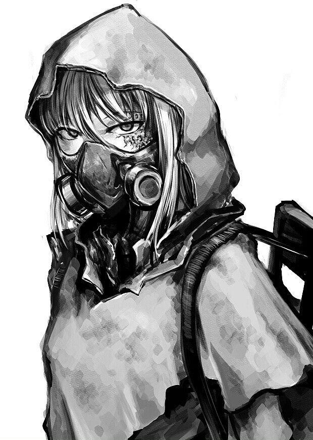 Gas Mask anime girls Anime, Anime military, Character