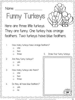 Thanksgiving activities thanksgiving reading comprehension no prep thanksgiving reading comprehension worksheets for young readers ibookread Download