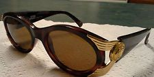 Authentic Versace Tortoise Shell / Gold MOD 423 COL. 900 Vintage Sunglasses