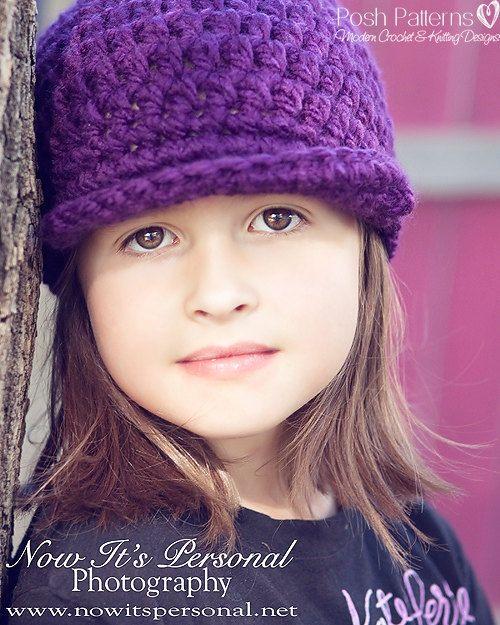 Crochet PATTERN  Newsboy Newsgirl Visor Beanie by PoshPatterns, $3.99