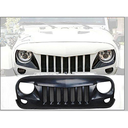 Opar Front Matte Black Eagle Eye Grille W Mesh Insert For 2007