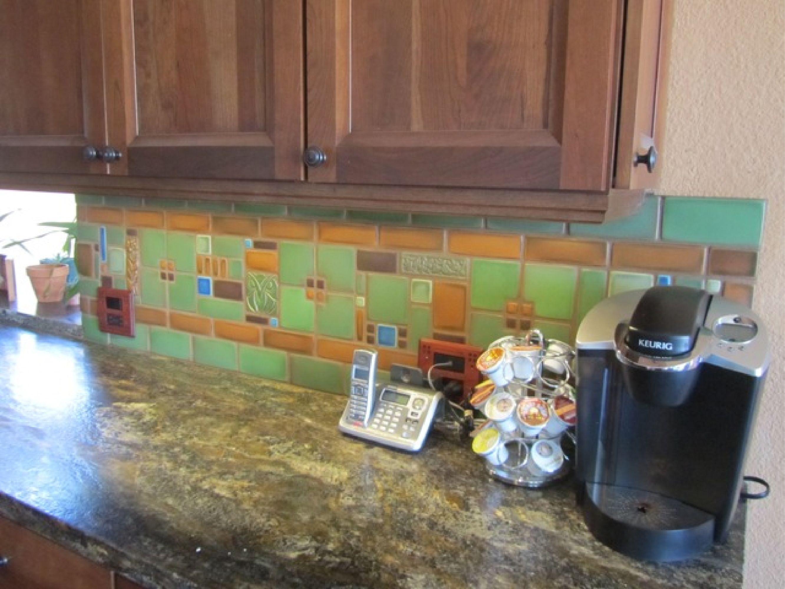 craftsman kitchen backsplash compact table motawi collage by tom gerardy of