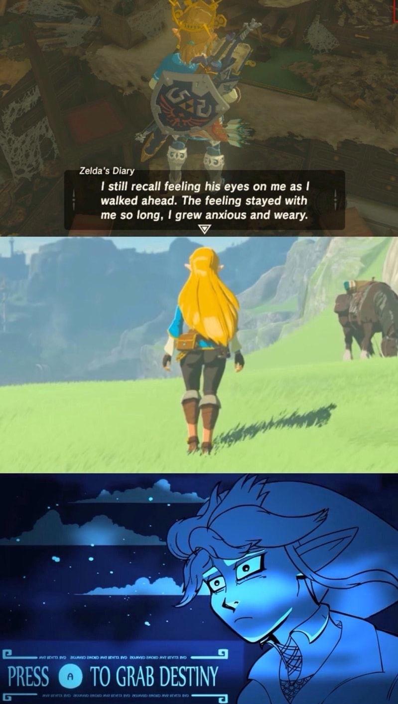 Press A To Grab Destiny Legend Of Zelda Memes Zelda Funny