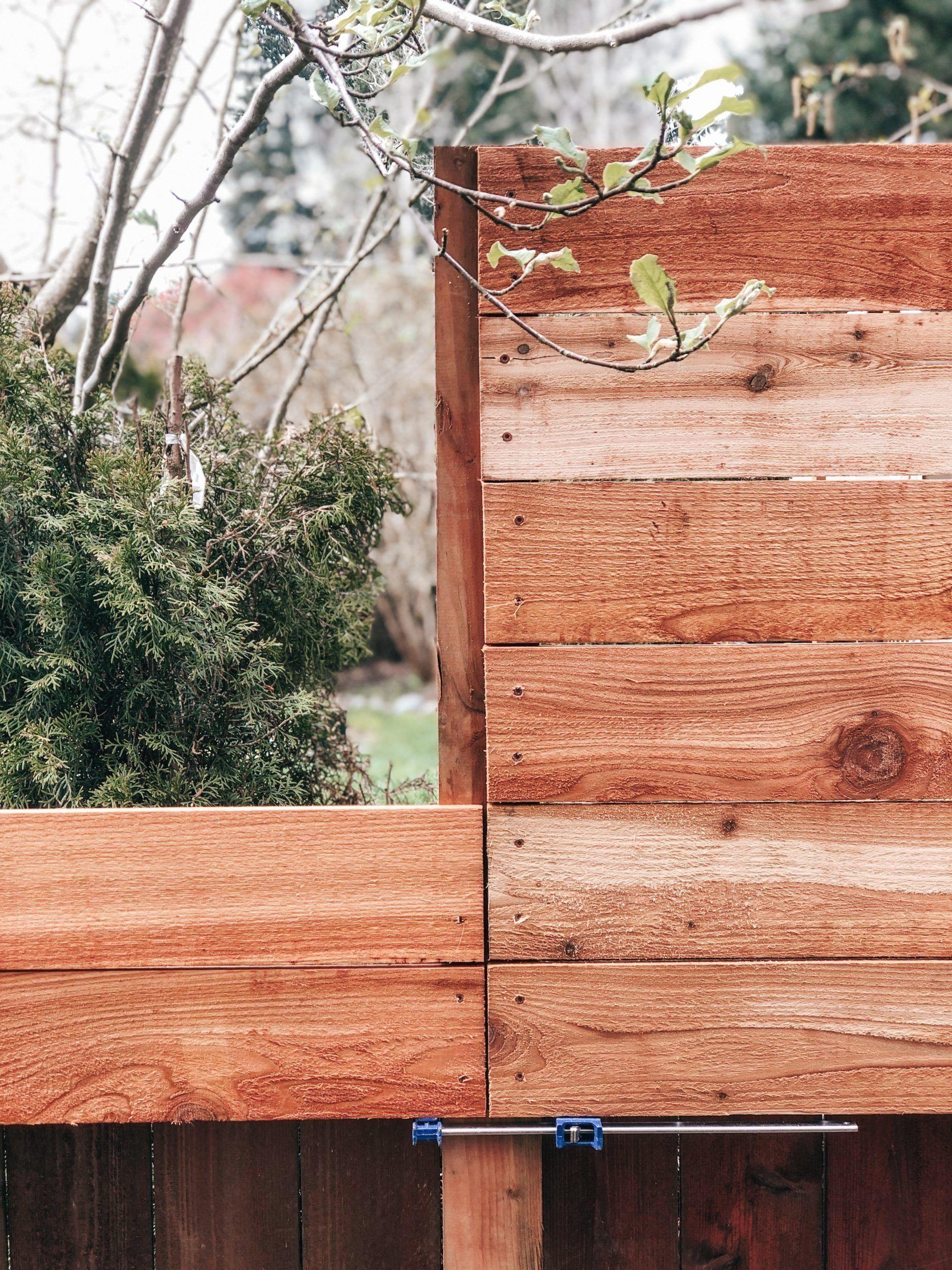 Diy horizontal privacy fence a cedar fence extension