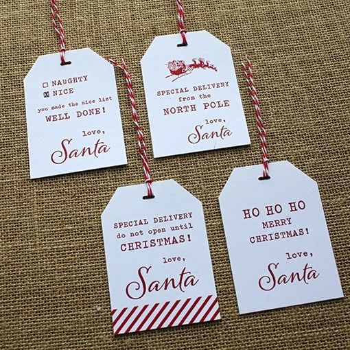 26++ Printable santa tags for presents ideas in 2021