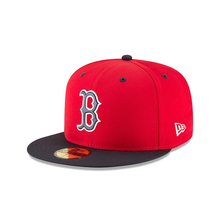 91cd3664ab0 Youth Boston Red Sox New Era Red 2018 Prolight Batting Practice 59FIFTY  Fitted Hat