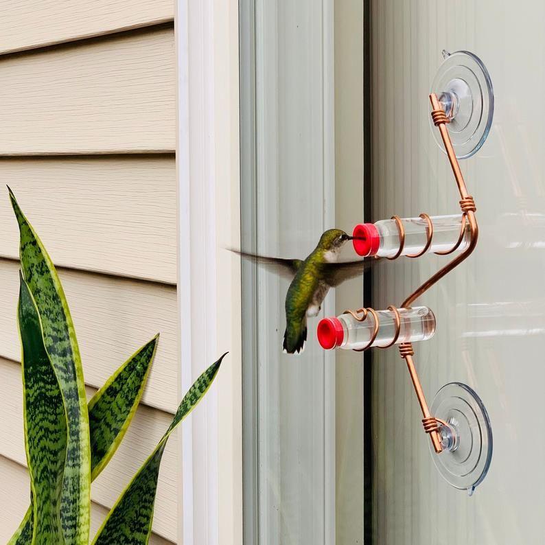 Geometric Window Hummingbird Feeder Sweet Feeders Geo
