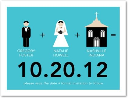 Cute and Simple idea for save the date cards!