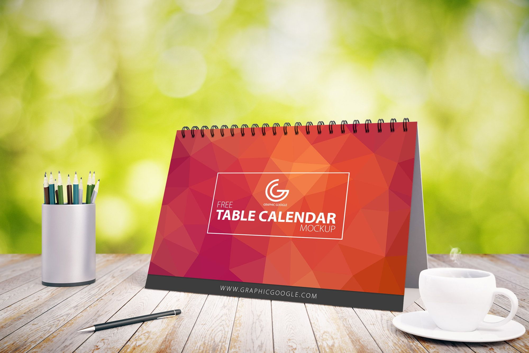 Free Table Calendar Mockup PSD | Graphic Google | #free #photoshop ...