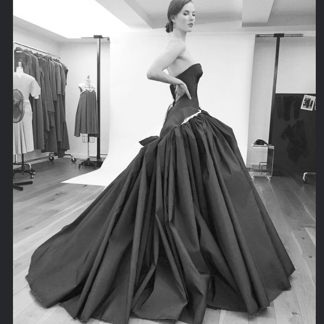 Ballgown inprocesscouture fittings for upcoming season zacposen