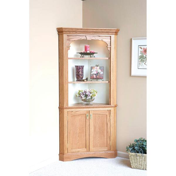 Heirloom Corner Cabinet Woodworking Plans Furniture Cabinets Storage WOOD Issue December January Traditional Intermediate Dining Room