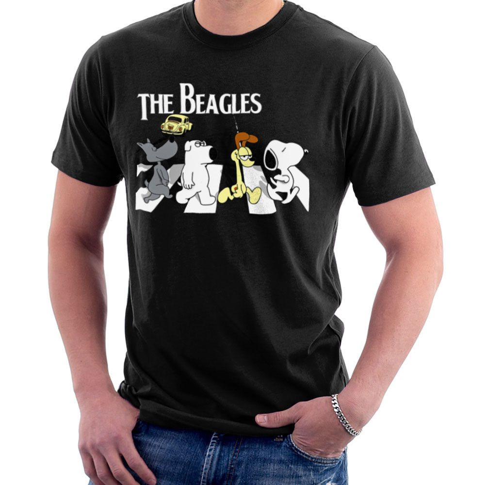 Sillicus The Beagles Beatles Abbey Road Brian Snoopy Odie Men S T