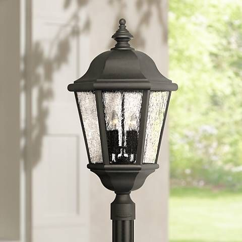 Edgewater Collection Black 27 High Outdoor Post Light 99084