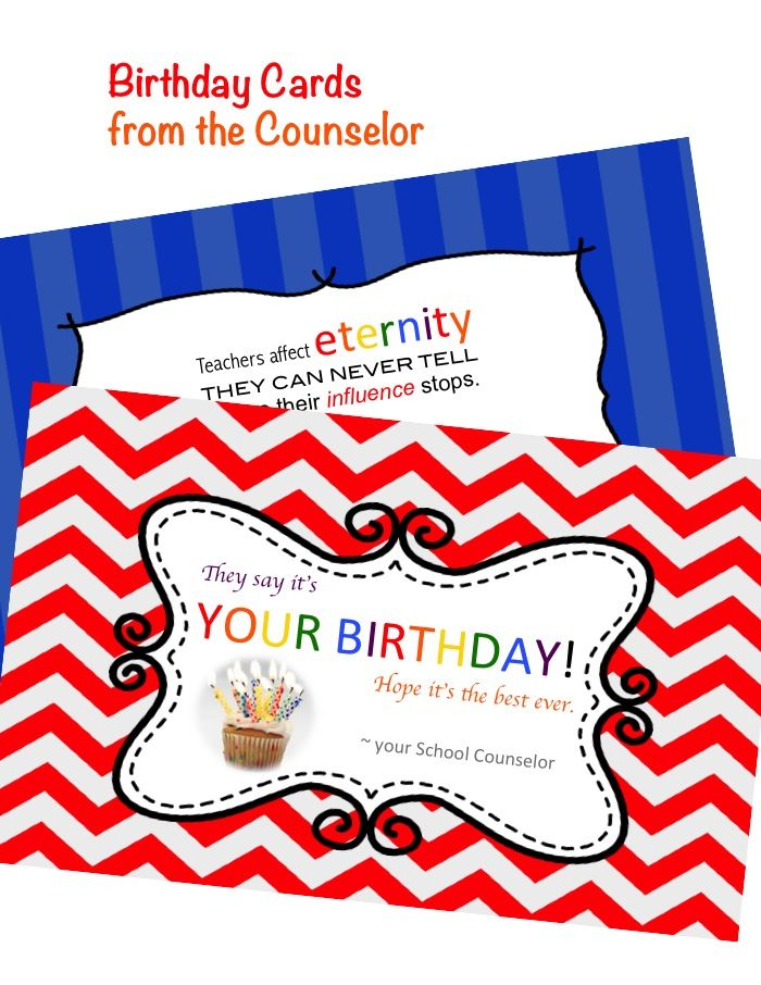 Birthday cards from the counselor students school counselor and birthday cards from the counselor give to students andor faculty and staff bookmarktalkfo Choice Image