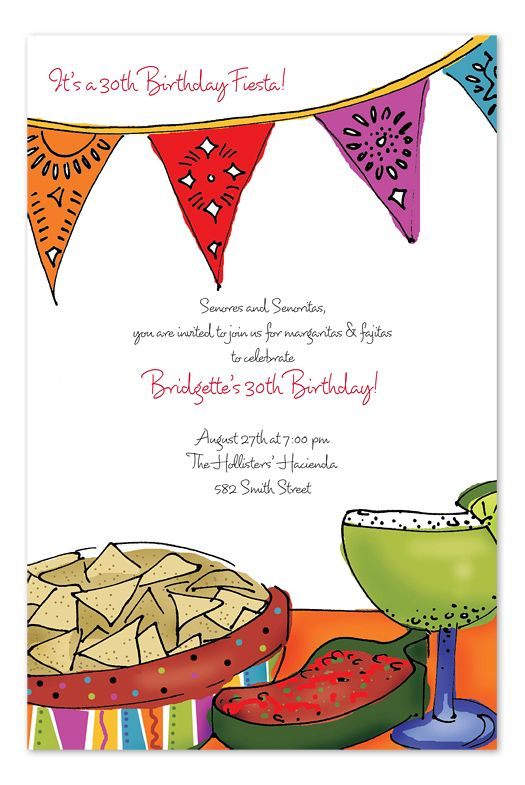mexican fiesta invitations templates