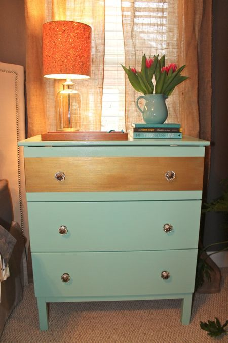 Here 39 S My Very Own Ikea Hack Tarva Dresser With Paint And New Knobs P