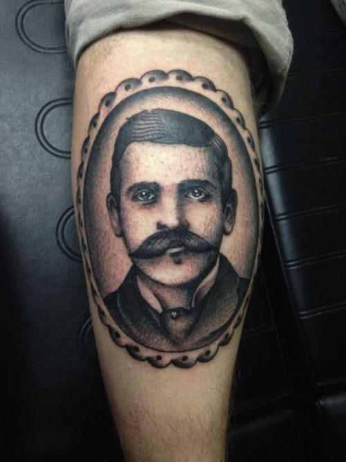 Doc Holliday Tattoo : holliday, tattoo, Holliday, Portrait, Casey, Maddox, Tattoo, Columbia,, Missouri., Holliday,, Tattoos,