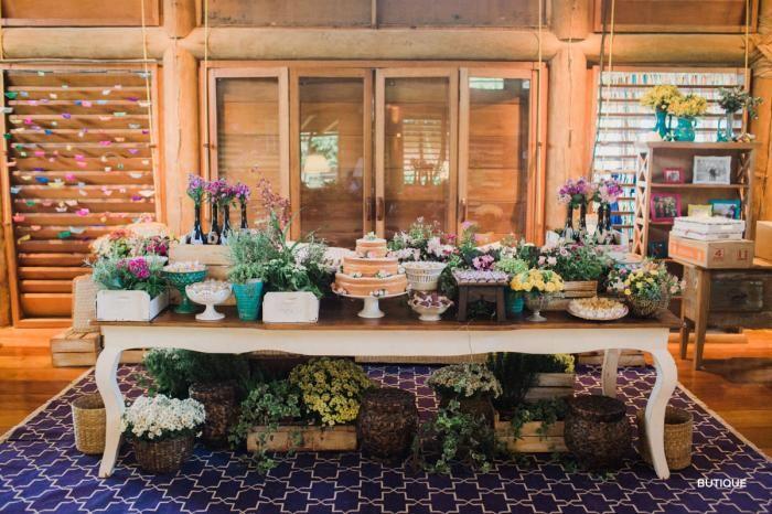 Mesa de Do bolo Casamento Trancoso