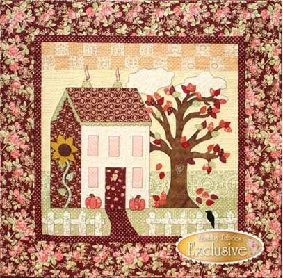 Little Garden House In Autumn