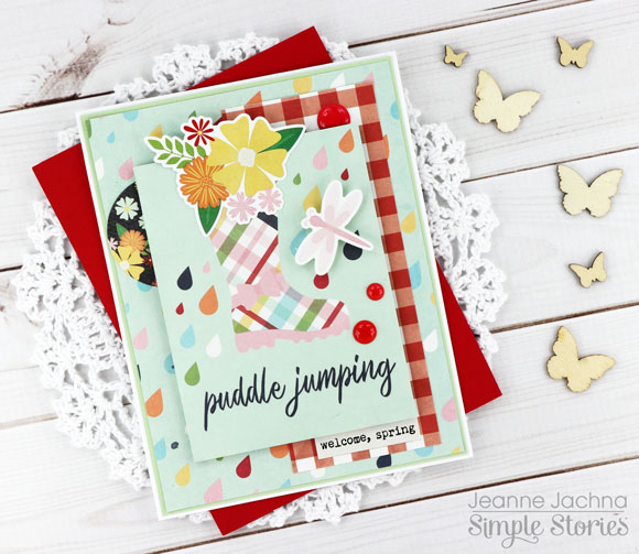 a kept life simple stories springtime collection card