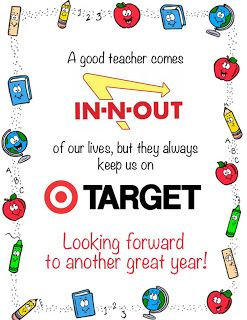 Back to school teacher gift with in-n-out and target gift cards ...