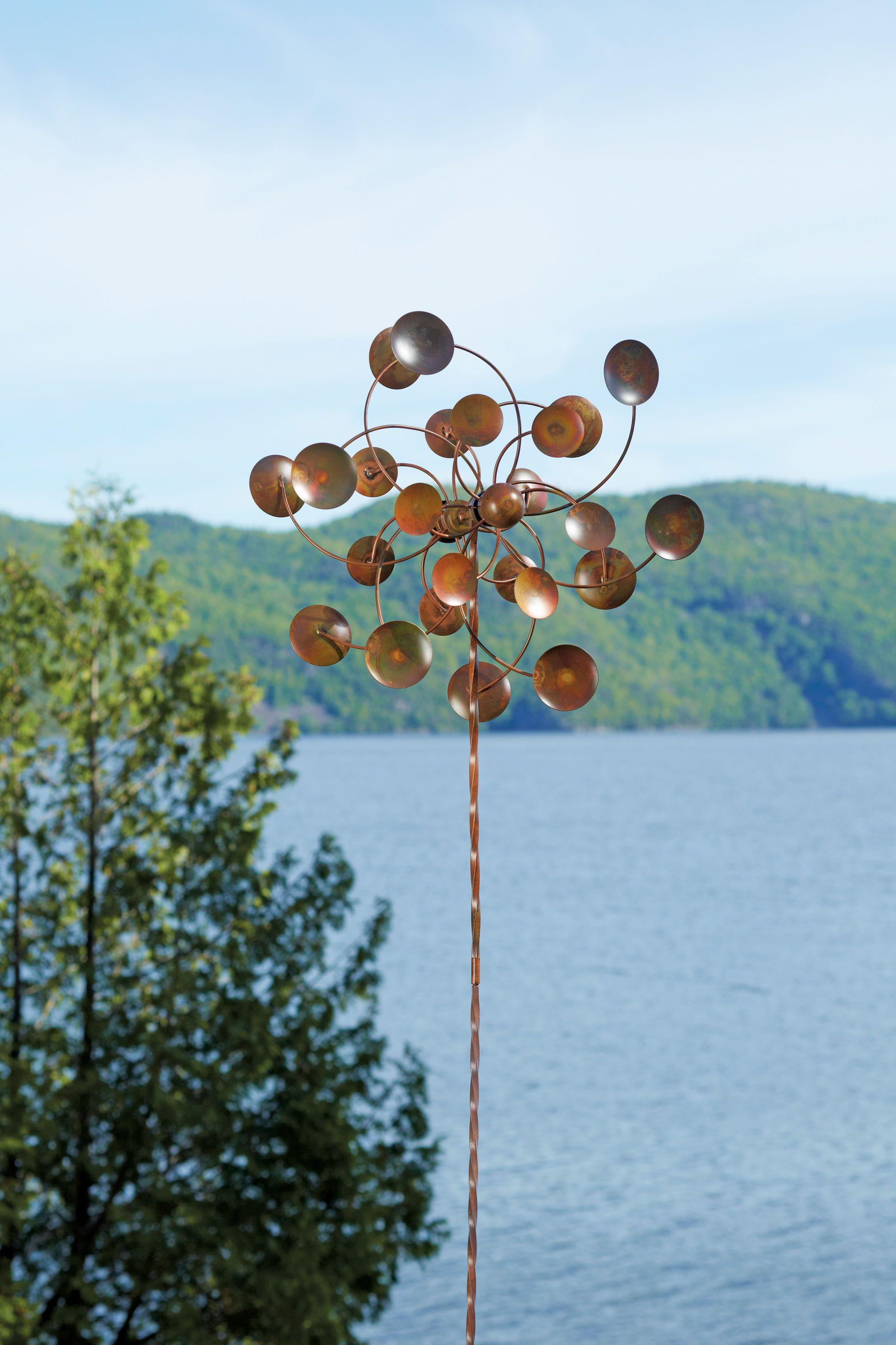 Metal Wind Spinners: Double Disc Wind Spinner | Gardeners.com