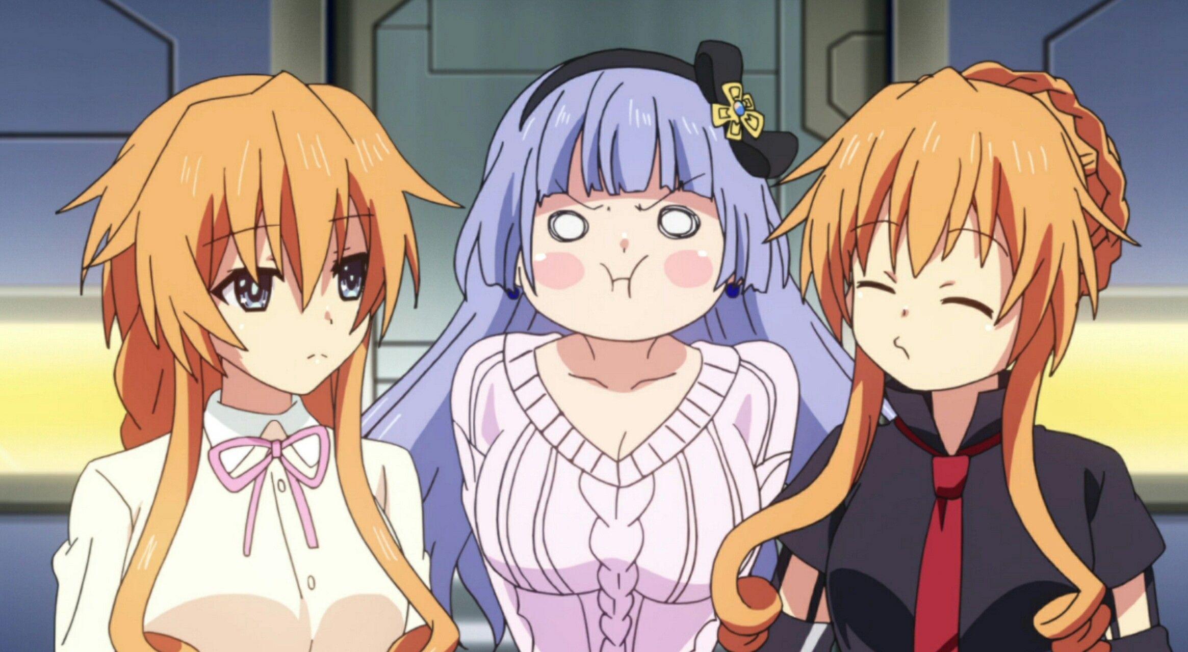 Yuzuru , Miku et Kaguya Date a live, Anime, Dragones