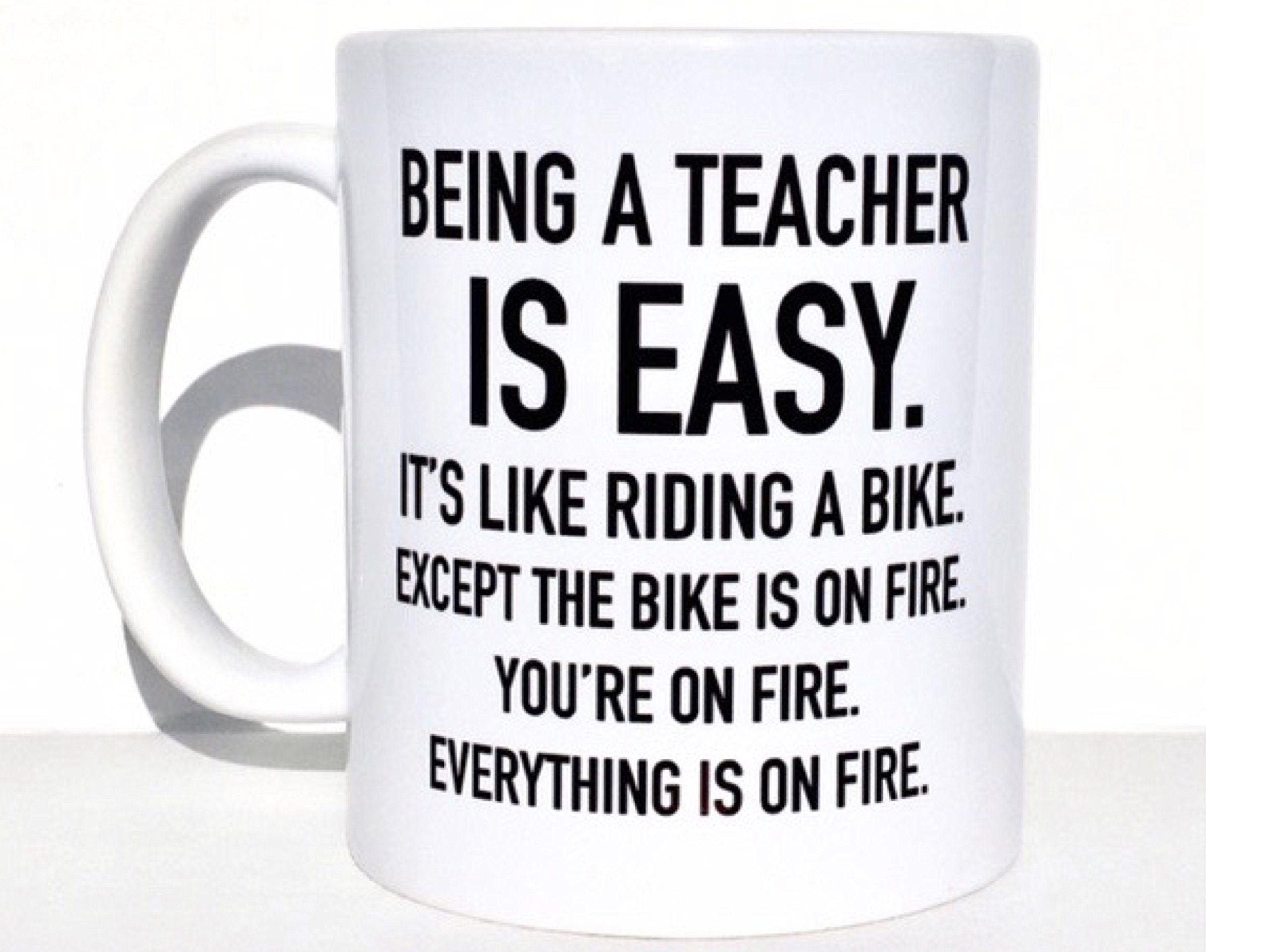 Being a teacher is easy coffee mug teacher mug funny mugs