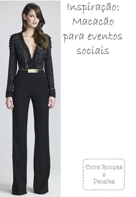 3d8a15c2f Macacão para festas sociais | modelos | Vestidos, Vestidos bonitos e ...