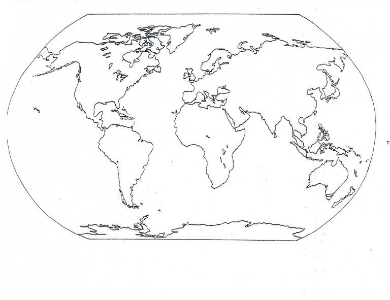 Free Printable World Map Coloring Pages For Kids Blank World Map