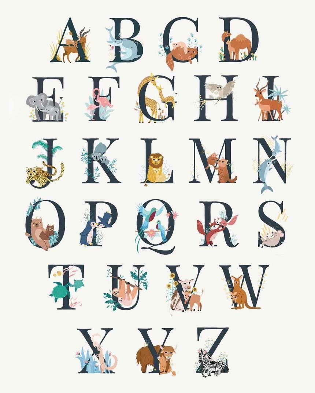L Affiche Abecedaire 50 X 70 Cm Michelle Carlslund X Emoi Emoi Edi En 2020 Emoi Emoi Affiche Abecedaire