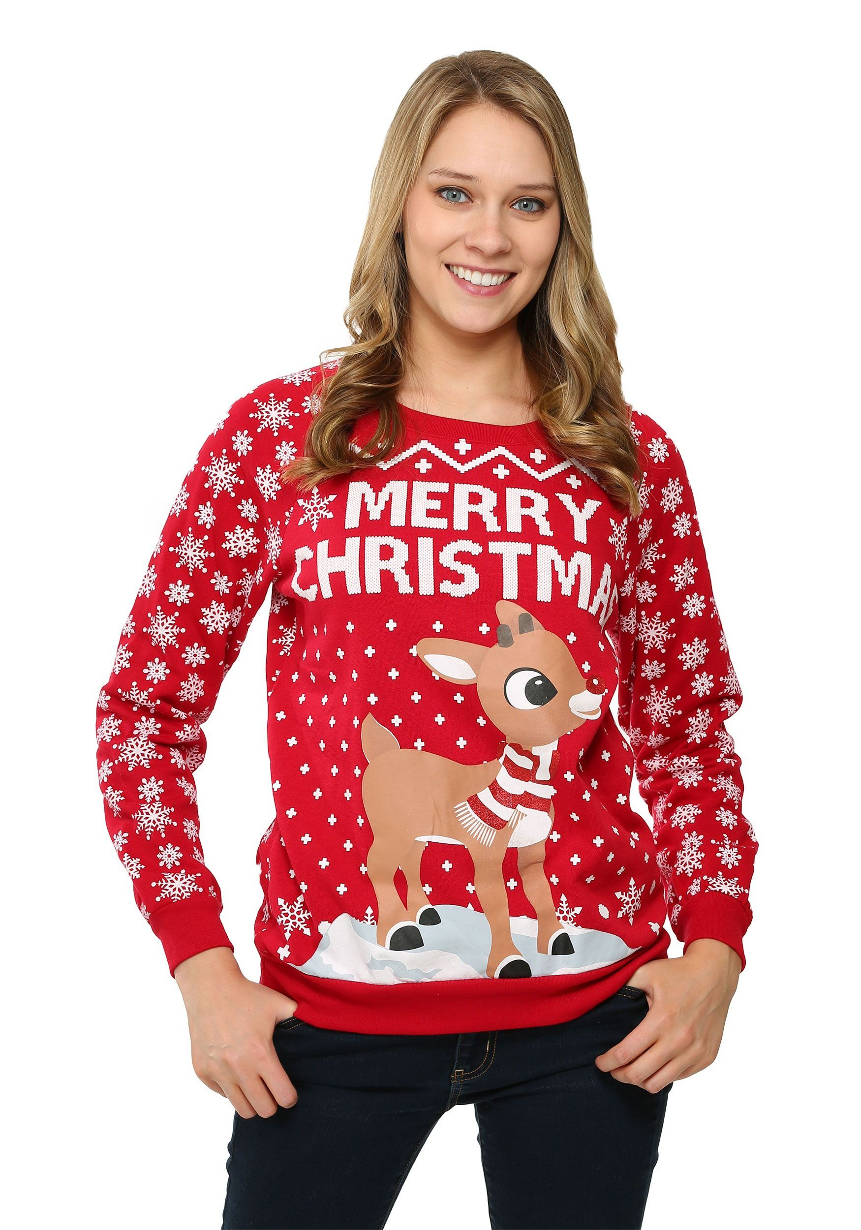 Rudolph Juniors Ugly Christmas Sweatshirt | Christmas!!! | Pinterest ...