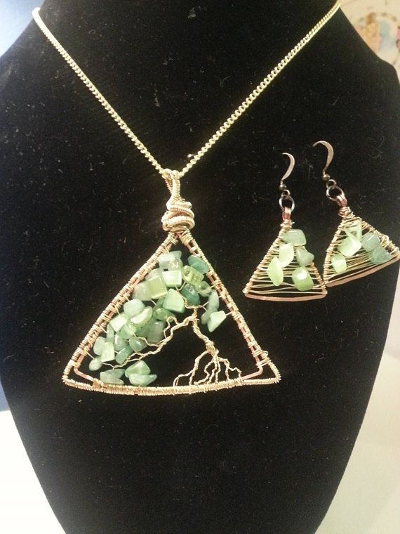 Triangle tree of life pendant and earring set rboles y rbol de triangle tree of life pendant and earring set aloadofball Gallery